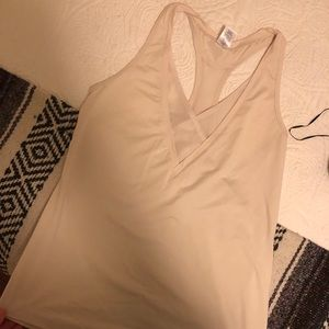 Like new Soybu workout top, cream color